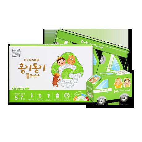 [어린이 홍삼]<br>홍키통키 플러스 그린 1개월-5~7세