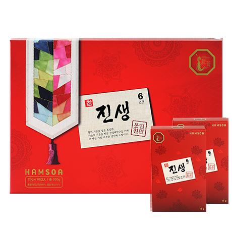 [6년근 홍삼 간식]<br>참진생 봉밀절편(20g*10갑)-쇼핑백포함
