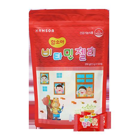 [인기만점★젤리로 비타민충전]<br>비타민젤리 딸기맛 100정