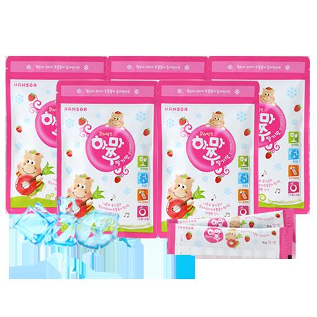 [25%◇냠냠간식]<br>얼려먹는 하마쭈 딸기맛 5봉(10gX10포X5) - 유통기한 : 2020년 11월