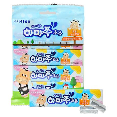 [캔디 대신 초유]<br>씹어먹는 하마쭈 초유 번들(4gx7개입x4개)