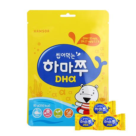[말랑말랑 DHA]<br>씹어먹는 하마쭈 DHA 미니어처(4gx20정)