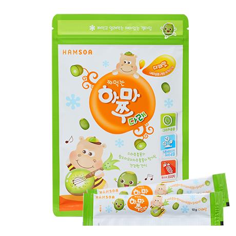 [사계절 영양간식]<br>짜먹는하마쭈다래 다래맛 1봉(10개입)