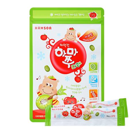 [짜먹는 영양간식]<br>짜먹는하마쭈다래 사과맛 1봉(10개입)