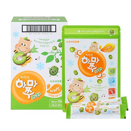 [다래가 함유된 영양간식]<br>짜먹는하마쭈다래 다래맛 10봉 (10gx10개입x10개)
