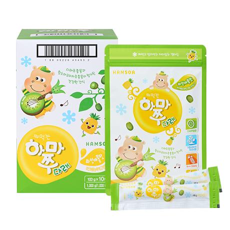 [다래가 함유된 영양간식]<br>짜먹는하마쭈다래 파인애플맛 10봉 (10gx10개입x10개)