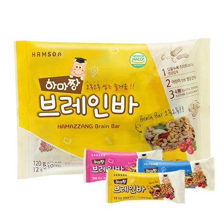 [함소아 new 영양간식]<br>하마짱 브레인바 120g(12gx10개입)
