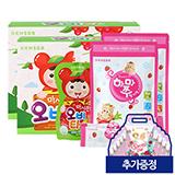얼려먹는 하마쭈 딸기맛 2봉(10개입X2)+마시는 오비타 2BOX(100mLx16팩) (추가증정:DIY백 10개)