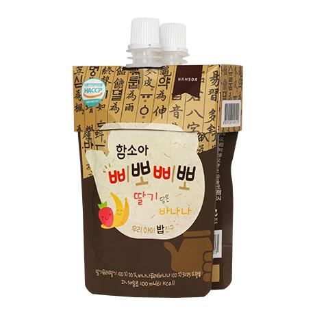 함소아 삐뽀삐뽀 딸기 담은 바나나 100mlX2입