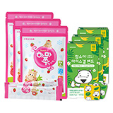 얼려먹는하마쭈 딸기맛 3봉(10개입)x3세트 + 함소아 아이스겔 밴드 (18매입)x3세트