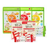 하마비타민 철분가득 2개월+짜먹는하마쭈다래 3가지맛(다래,사과,파인애플 각1봉/ 총30개입)