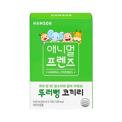 [애니멀프렌즈 하루한포]<BR>뚜러뻥 코끼리(20 ml x 7포)/애니멀프렌즈