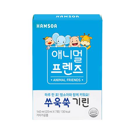 [쑤욱쑥 하루한포]<BR>쑤욱쑥 기린(20 ml x 7포)/애니멀프렌즈