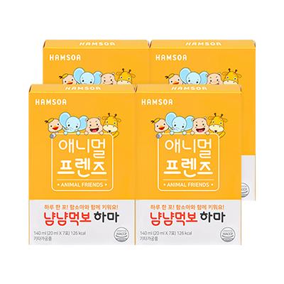 냠냠 먹보 하마 4주분(28일) (20mlX7포X4) / 애니멀프렌즈