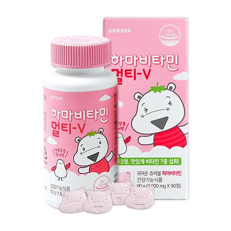 [하마 츄어블 멀티비타민]<br>하마비타민 멀티-V (1g*90정)/45일분