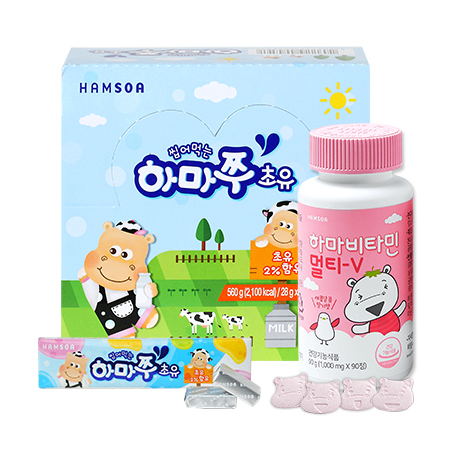 (M)하마쭈 초유 20개+하마비타민 멀티-V (1g*90정)/45일분