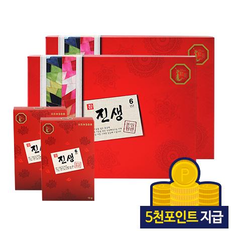 [30%◇5천포인트지급]<br>참진생 봉밀절편(20g*10갑)x2세트-쇼핑백 포함
