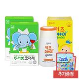 뚜러뻥 코끼리(7포)x2박스+함소아 키즈DHA플러스D 20일분 (증정: 초유 4개)