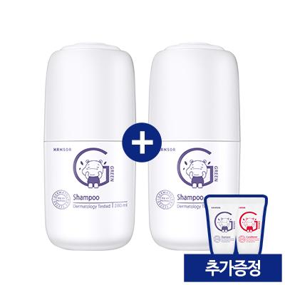 함소아 그린 샴푸 1+1 (증정: 샴푸/컨디셔너 10ml 미니어처 2종)