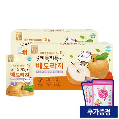 [리뉴얼기념] 키득키득 배도라지 (100ml/10팩x2) (증정: 얼려먹는 하마쭈 딸기맛 1봉)