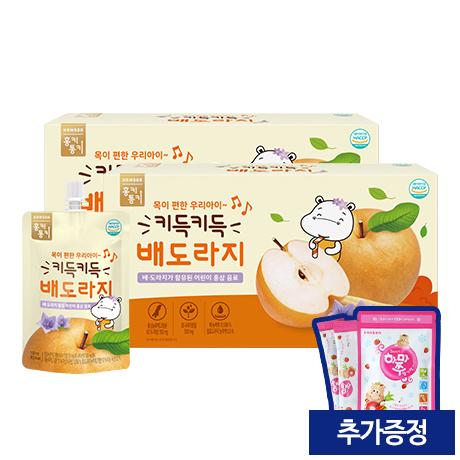 [28%★리뉴얼기념]<br>키득키득 배도라지 (100ml/10팩x2) (증정: 얼려먹는 하마쭈 딸기맛 1봉)