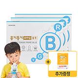 홍키통키 프라임 블루 X 3박스 +증정: 냠냠먹보 하마 1박스(7포)